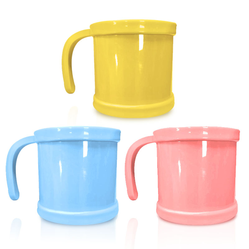 Blue Pink Baby Coffee Mugs Tea Plastic Cup Milk Environmental Protection Thick Anti-hot Cups Toothbrush Tableware