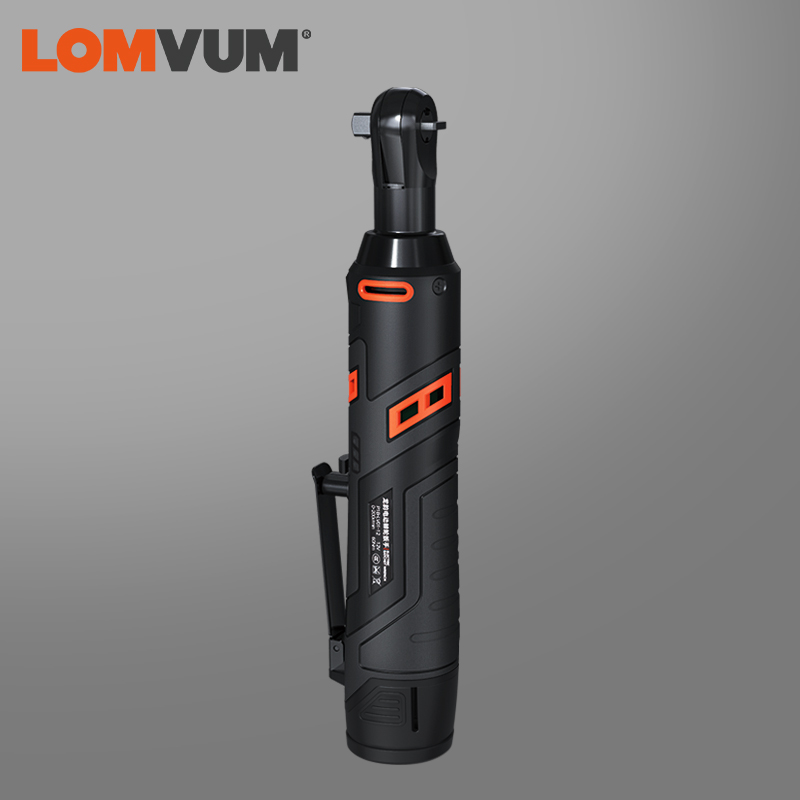 LOMVUM Cordless Ratchet Wrench Electric Wrench Rechargeable 60NM Torque Led Light Repair Tools