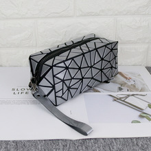 New Womens bag  Fashion Floral Geometric Lingge Waterproof Portable Lady Cosmetic Bag Girl Large Space Female