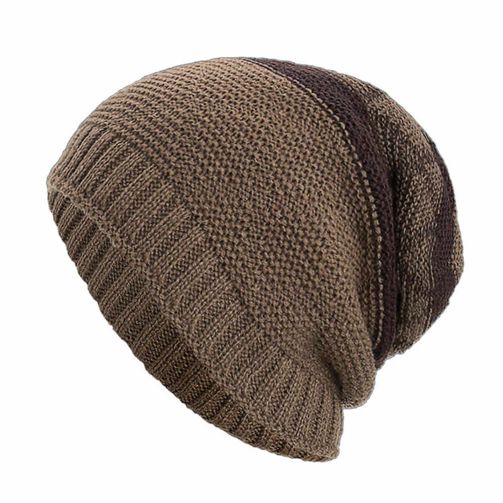 女性男性暖かいバギー織り編み冬ウールニットスキービーニースカル帽子の少女プラスベルベット暖かい帽子 gorro invierno hombre