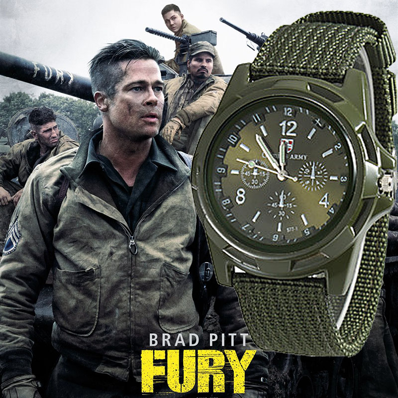 Clearace Sell Gemius Army Watches Men Sports Watches Green Nylon Band Quartz Watches Men Aviator Watches Wholesale Price