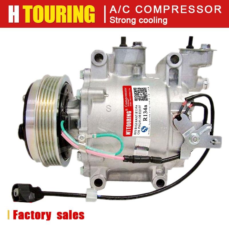 for honda fit compressor SANDEN TRSE09 TRSE07 3416 3406 For Honda Jazz 2003 City Fit