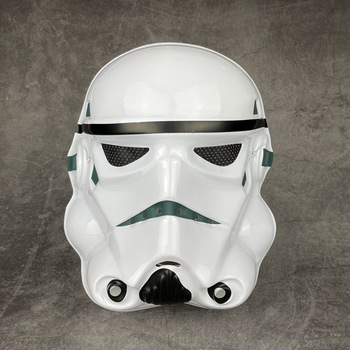 Star Wars Movie Theme Face Mask Darth Vader Mask White Soldier Clone Stormtrooper Mask Cosplay Props Children Birthday Present star wars face mask darth vader mandalorian cosplay costume accessories anime adult masks
