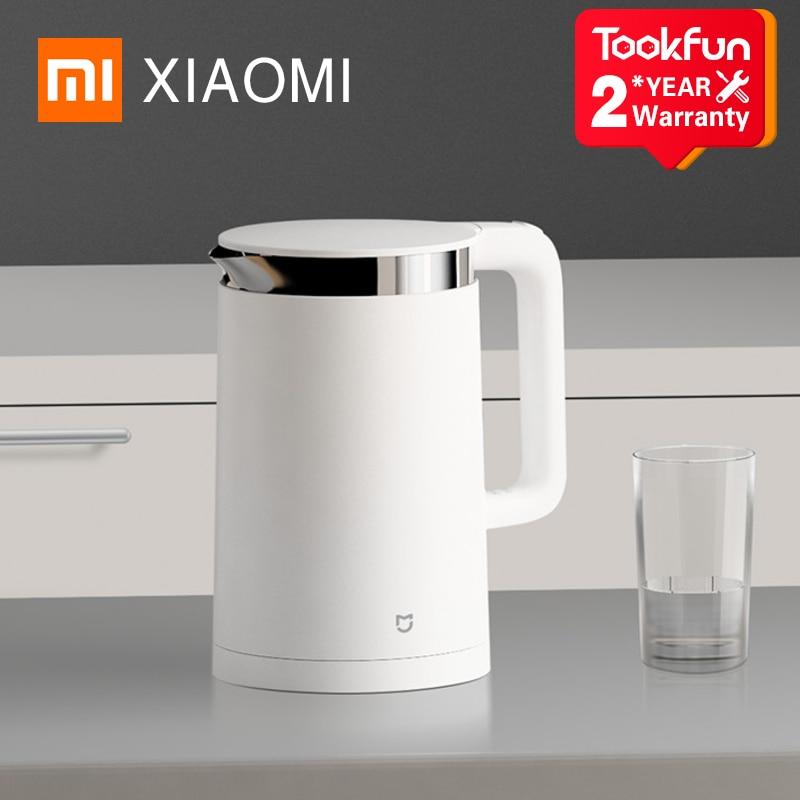 Умный электрический чайник XIAOMI MIJIA, термоизоляция, 1,5 л, контроль температуры, чайник для воды, самовар