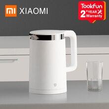 XIAOMI MIJIA akıllı sabit elektrikli su ısıtıcısı sıcaklık kontrolü mutfak su ısıtıcısı semaver 1.5L isı yalıtım demlik
