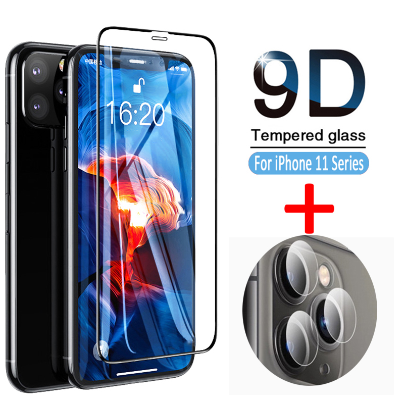 9D Tempered Gass for Iphone 11 Pro Max Camera Lens Glass Protector for Iphone 11 11pro Screen Protective Glas on iphone11