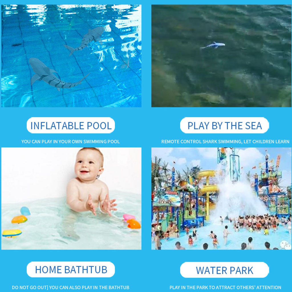 Water - Radio Remote Control Toys Electronic Shark Fish Boat Durable 4 Channel Underwater Toy