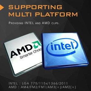 Image 3 - Aigo obudowa PC chłodnica wodna wentylator procesora T120/240/360 chłodzenie wodne wentylator do procesora 120mm wentylator zintegrowany grzejnik do LGA2011/AM4/115x