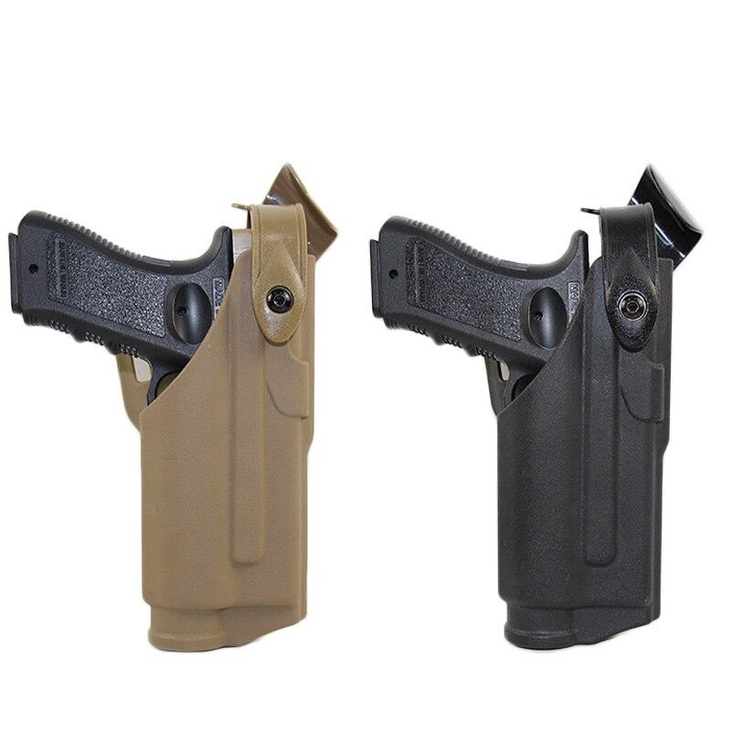 Taktische Pistole Holster Tasche Fall Für Glock 17 19 22 23 31 32 Airsoft Pistole Gürtel Taille Holster Mit Taschenlampe jagd Zubehör