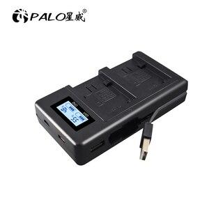 Image 2 - פאלו LCD USB מטען NP FV100 NP FV100 NPFV100 עבור SONY FDR AX100E AX100E HDR XR550E XR350E CX550E CX350E