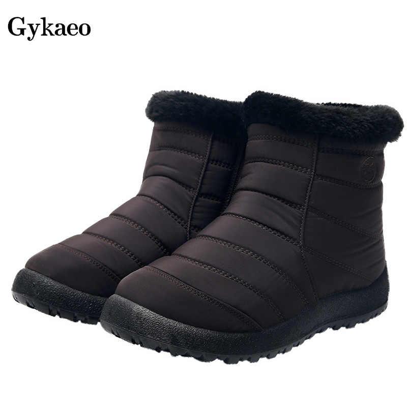 Gykaeo lüks ayakkabılar kadın tasarımcıları yumuşak ışık kar botları bayanlar büyük boy rahat fermuar sıcak botlar kış Botines Mujer 2019