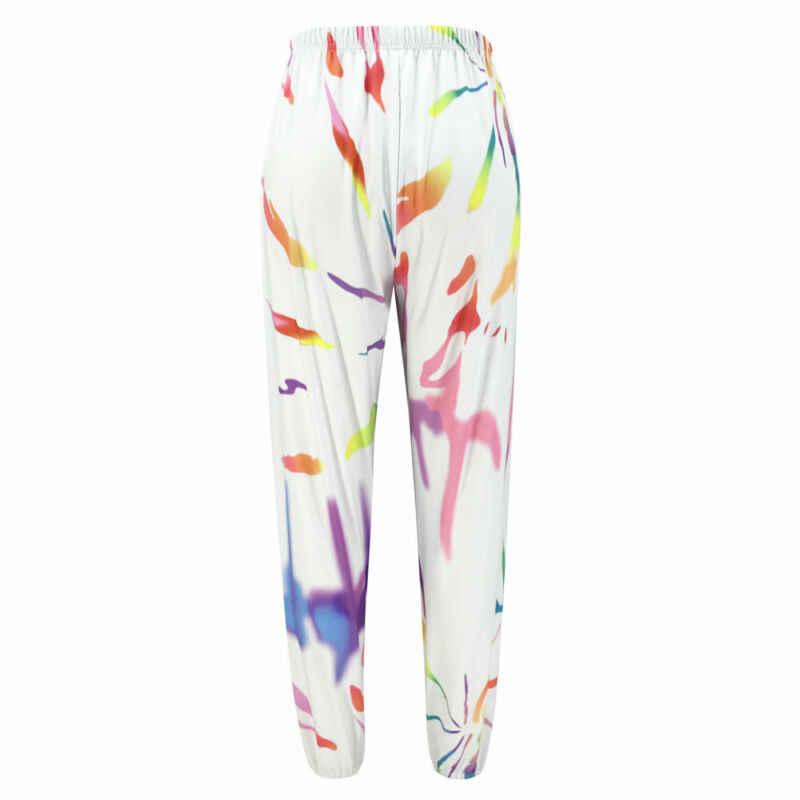 Nowe damskie spodnie odblaskowe biegaczy Harem spodnie luźne w stylu casual legginsy kostki spodenki sportowe luźne w pasie paski