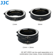 JJC RF Mount Auto Focus Macro Extension Tube Set for Canon EOS R5 R6 RP R Full Frame Mirrorless Camera and Canon RF Mount Lenses