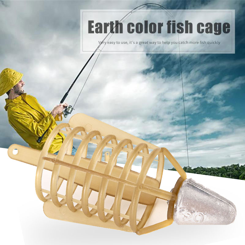 Fishing Bait Cage 30g/40g/50g Connector Sinker Feeder Bait Holder Thrower Carp Fishing Tackle Tool Accessories image