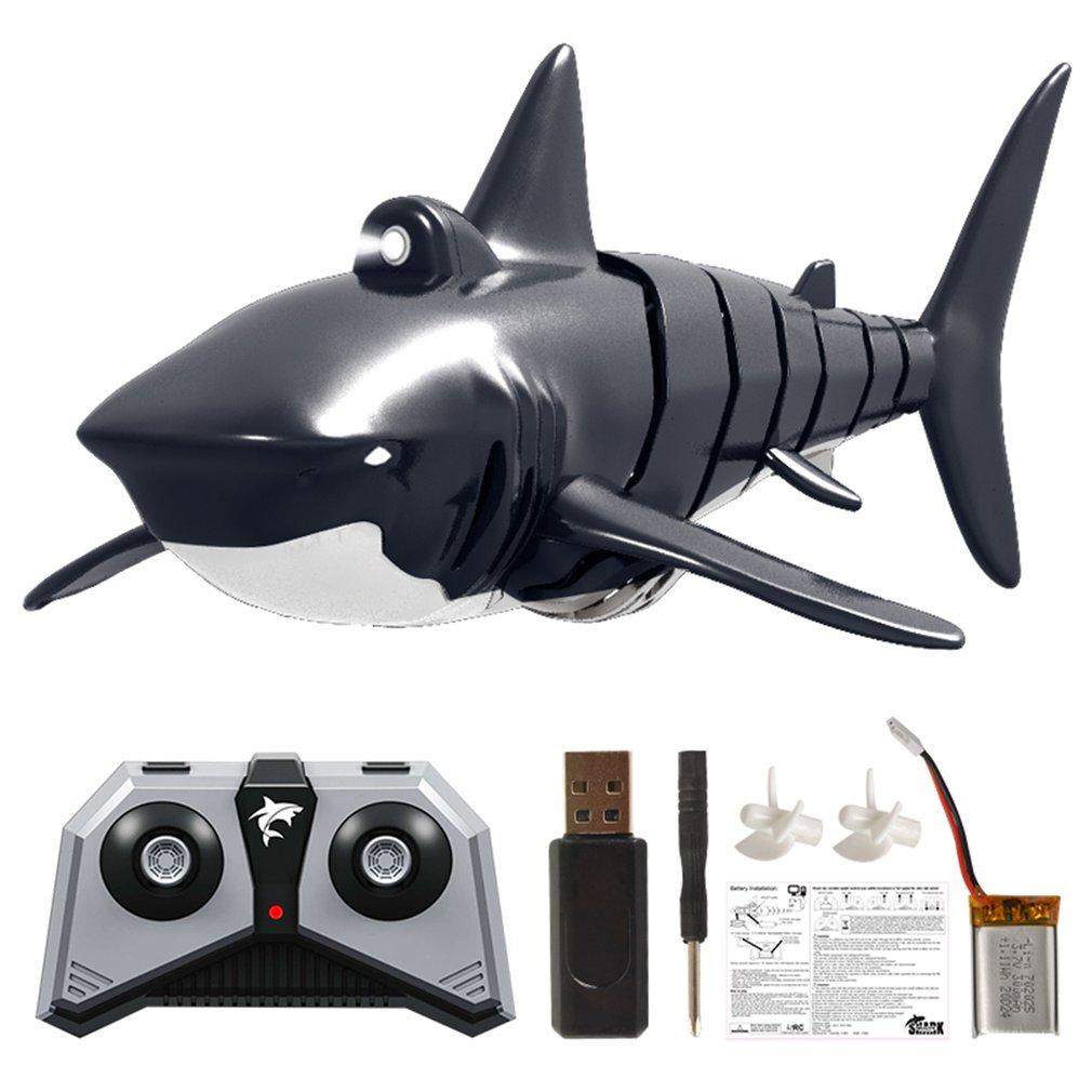 Modelo de juguetes de simulación de piscina YKS 2,4G 4CH Electric Shark RC, vehículos náuticos a prueba de agua