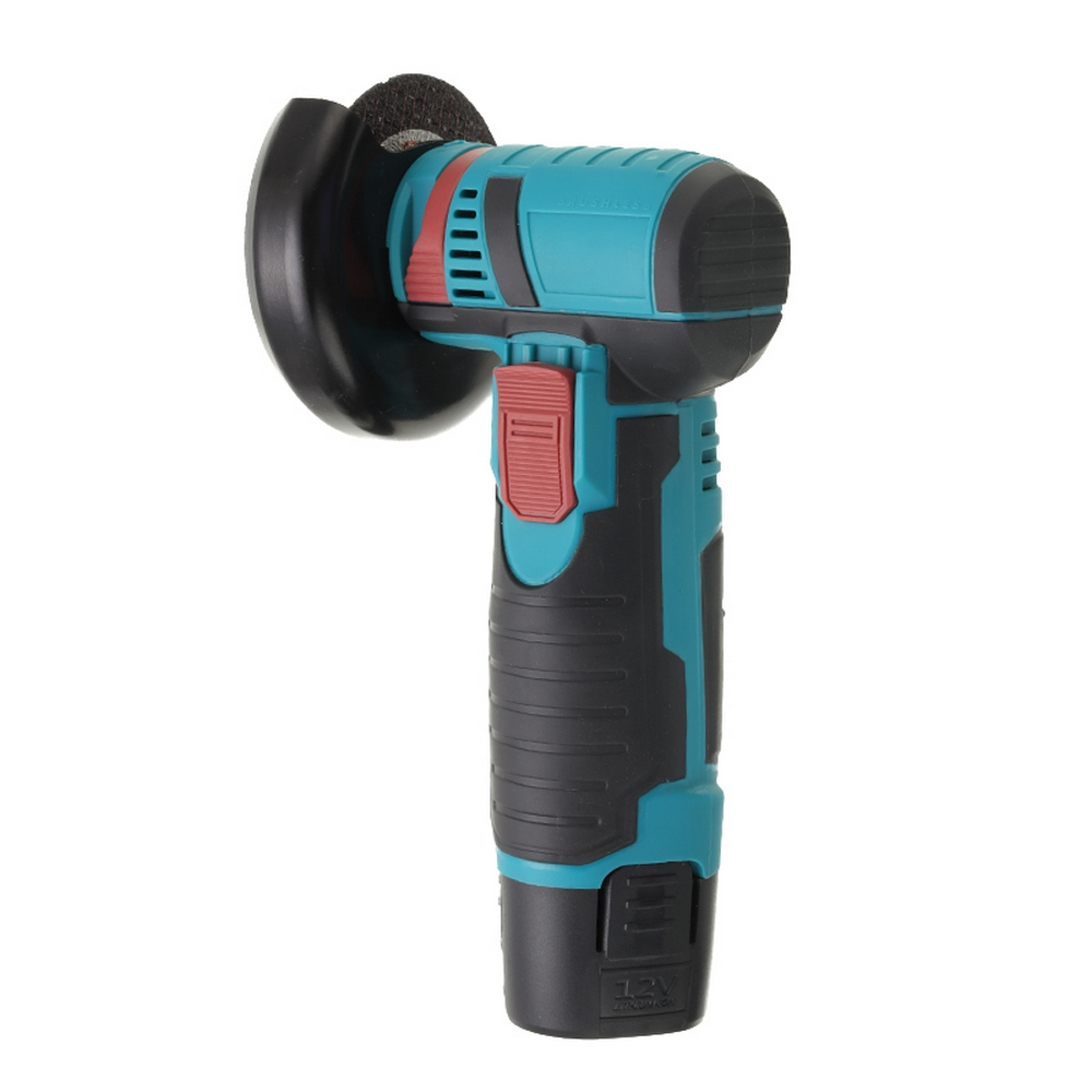 Tools : Cordless Angle Grinder 12v 2000mAh Batteries Dual Battery Machine Cutting Electric Angle Grinder Diamond Cut Wheel Power Tool