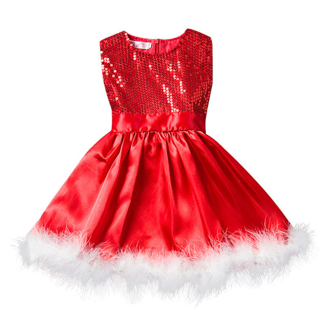 Christmas Princess Dress  For Kids