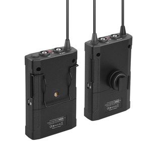 Image 2 - CoMica CVM WM100 PLUS UHF 48 канальная Беспроводная двойная петличная микрофонная система для цифровых зеркальных камер Canon Nikon Sony Panasonic