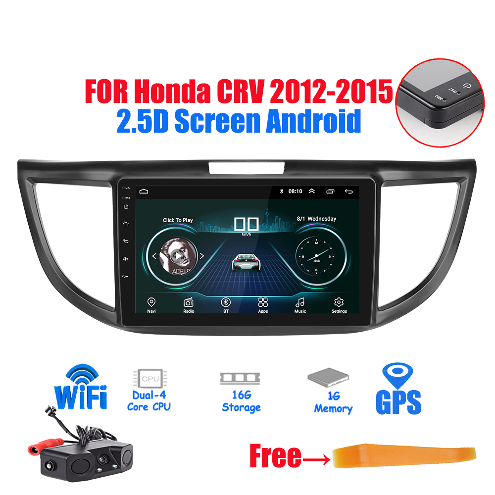 2Din 2.5D Screen Android 8.1 GPS Navigation Car Radio Stereo <font><b>Multimedia</b></font> Player for <font><b>Honda</b></font> <font><b>CRV</b></font> <font><b>2012</b></font> 20132014 2015 Car Radio Stereo image