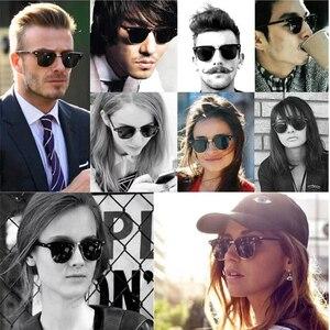 Image 2 - زجاج عدسة الكلاسيكية نظارات شمسية كلاسيكية الرجال النساء الفاخرة العلامة التجارية تصميم نظارات نظارات شمسية أنيقة ظلال gafas oculos دي سول 3016