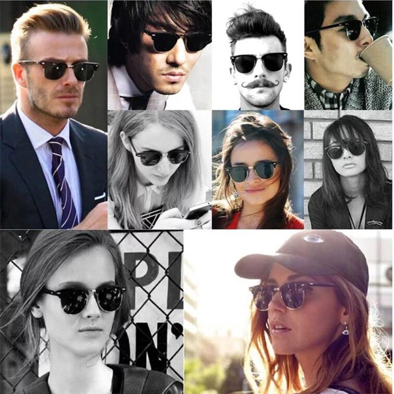 Image 2 - Glass lens Classic retro sunglasses men women Luxury Brand Design Goggles Elegant Sun glasses Shades gafas oculos De Sol 3016-in Women's Sunglasses from Apparel Accessories on AliExpress