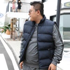 Image 3 - ฤดูหนาวผู้ชายสำหรับผ้าฝ้ายเสื้อแขนกุดเสื้อกั๊ก6XL 7XL 8XL 9XL Manขนาดใหญ่Mannen Black Royal blue Mens Coat