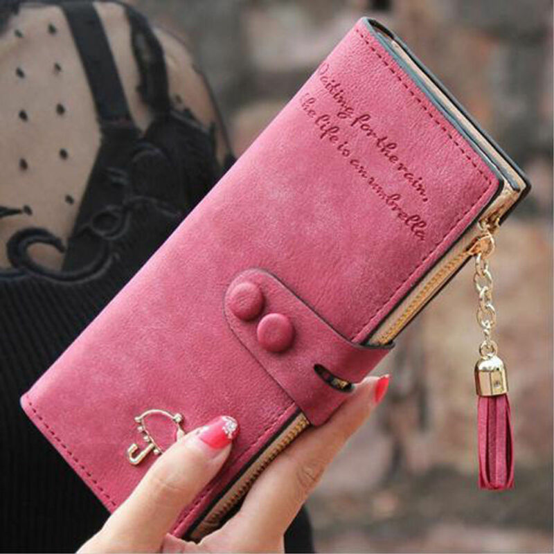 New Fashion Women Leather Bifold Wallet Clutch Card Holders Purse Lady Long Handbag