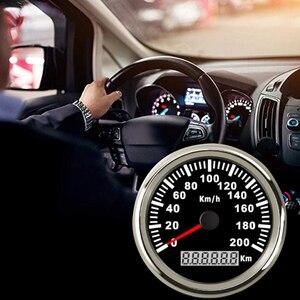 Image 4 - Universal 85mm GPS Speedometer 200km/h 120km/h Car Speedometer Gauge for Truck Marine Boat With Backlight 12V 24V for BMW e39