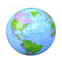 30cm inflatable world globe Earth Map Ball PVC Ocean globe model for Kids Geography Educational Toy office desk decor astronomy