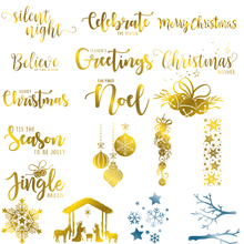 Christmas Elements Letters Snowflake Tree Hot Foil Plates For DIY Scrapbooking Letterpress Embossing Cards New 2019