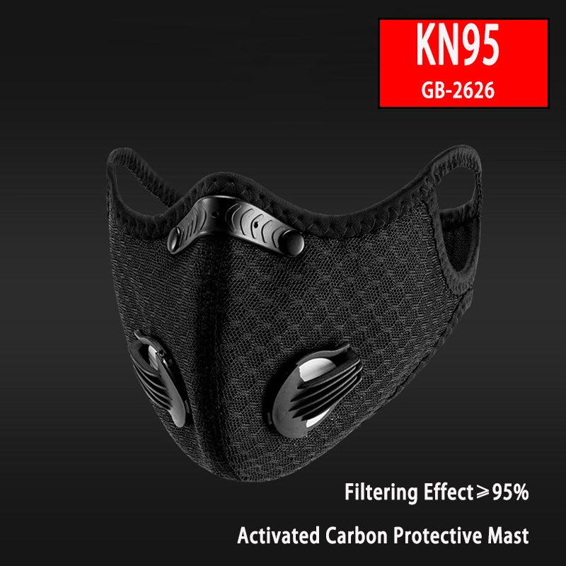 ROCKBROS Cycling Mask Filter KN95 Anit-fog Breathable Bicycle MTB Respirator Sports Protection Mouth-Muffle Dust Face Mask