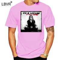 Round Neck T-shirt Avril Lavigne My Happy Ending Rock Album Cover Mens Crew Neck Design T Shirts