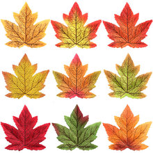 Simulation Maple Leaf Simulated Leaves Red Gold 10cm Single Maple Leaf Wedding Halloween Decoration Maple Leaf