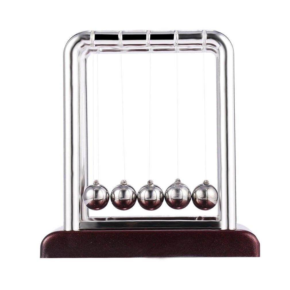 1pcs Newton Teaching Science Desk Toys Cradle Steel Balance Ball Physic School Educational Supplies