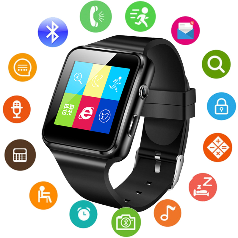 Smart-Watch Support Xiaomi Whatsapp Bluetooth with Camera Touch-Screen SIM Tf-Card X6