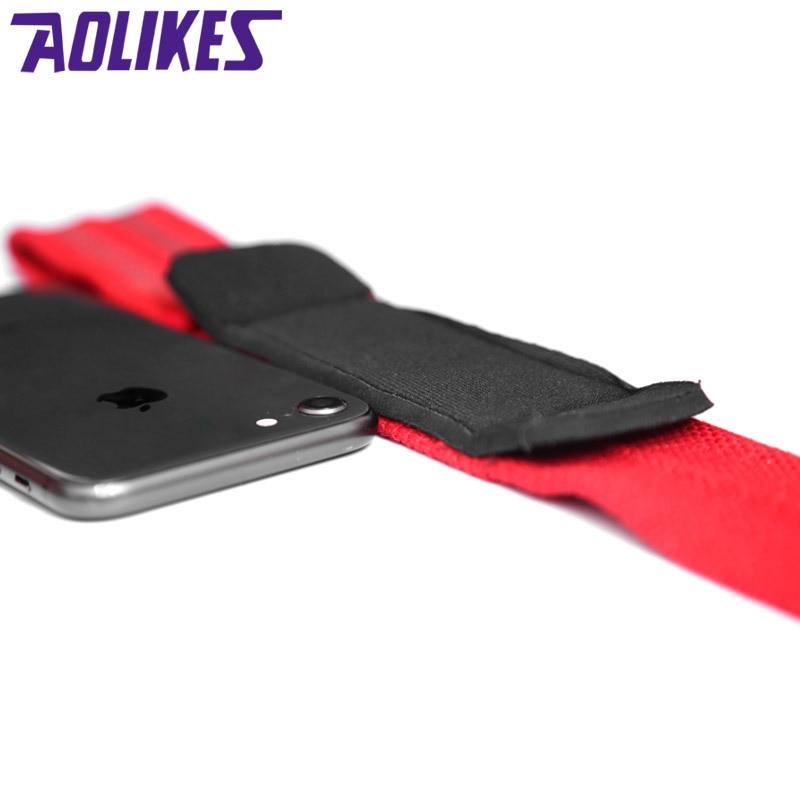 AOLIKES 2 шт./лот Спортивная поддержка запястья Профессиональный Регулируемый Фитнес-браслет для тяжелой атлетики бодибилдинга ремешок для спортзала защита запястья-4