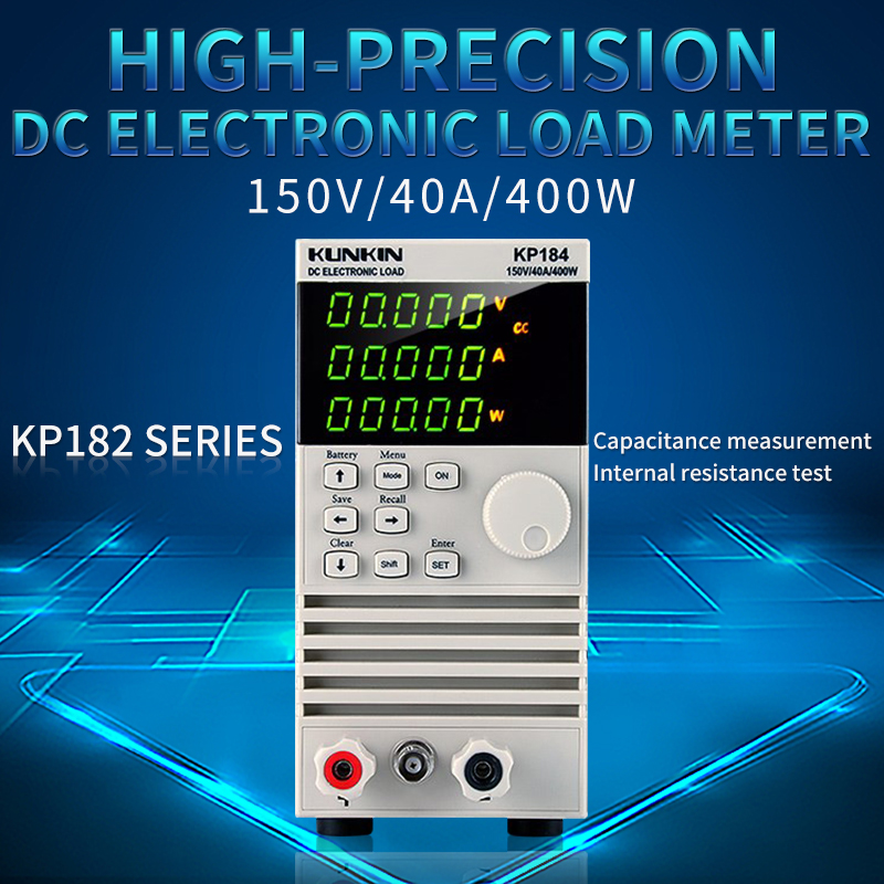 KUNKIN KP184 DC Electronic load meter 200W / 400W battery capacity Tester power test aging instrument KP182