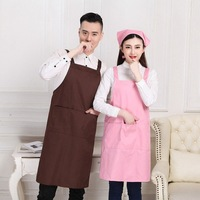 Apron Korean style Fashion Waterproof Apron Kitchen Restaurant Work Clothes Adult Men And Women Manicure Logo Painted-בשרוולי כיסוי מתוך בית וגן באתר