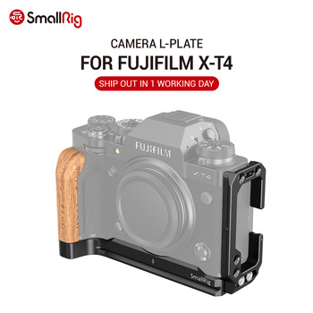 SmallRig XT4 Camera L Plate L Bracket for FUJIFILM X-T4 Camera Feature Wooden Side Grip Arca Compatible Plate Quick Release 2811 smallrig quick release l plate l bracket for canon eos 6d camera vertical shooting bracket w arca style base side plate 2408