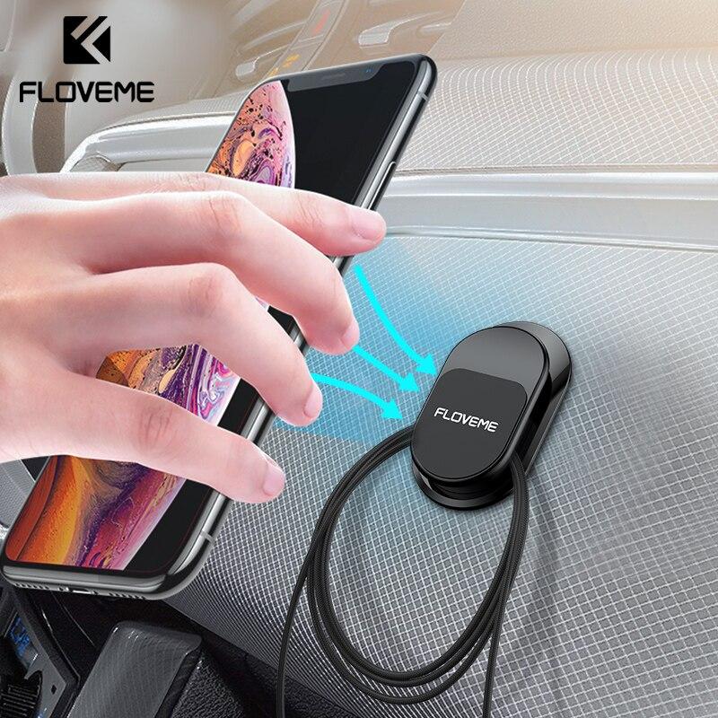 FLOVEME Magnetic Car Phone Holder Multifunction Mini Hook Mobile Phone Holder Magnet Wall Phone Holder Car Mount GPS Stand