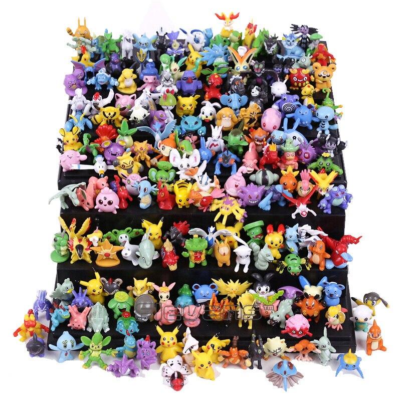 """144 шт. Стили Аниме-конструктор с фигурками из м/ф """"Покемон"""" модели игрушки с дистанционным управлением коллекция измерений в пределах 2-3 см ..."""