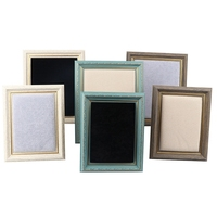 Flannelette Solid Wood Photo Frame Jewelry Display Rack Earrings Show Stand