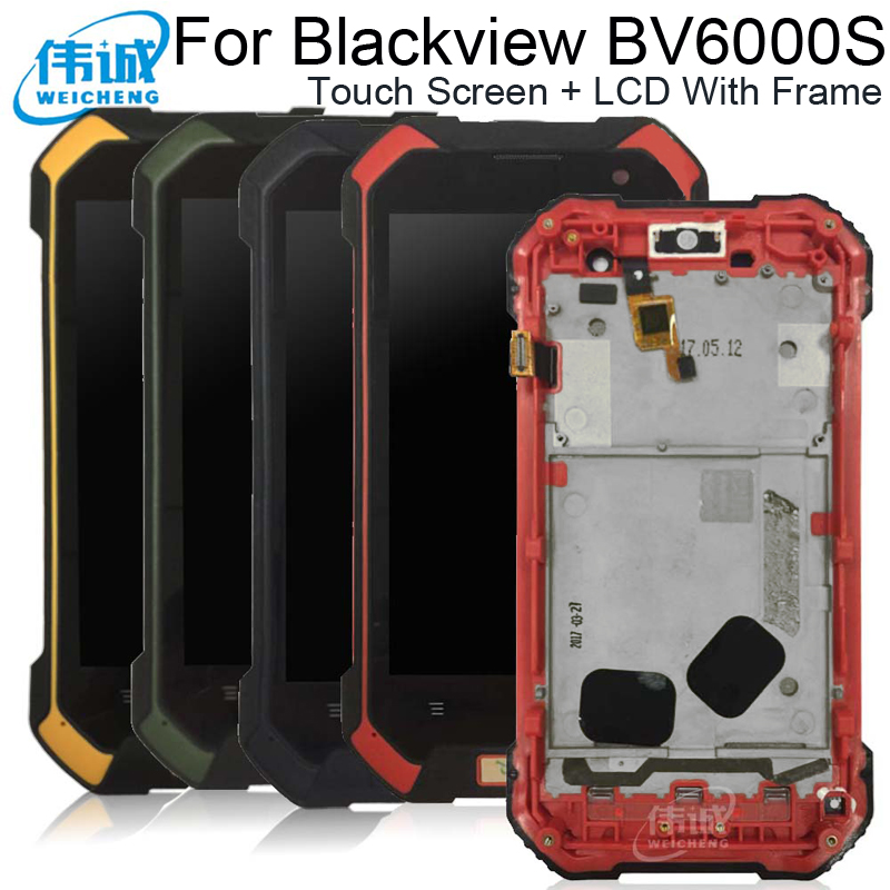 WEICHENG Android 6.0 For <font><b>Blackview</b></font> BV6000S LCD+Touch Screen With Frame Assembly Repair <font><b>Parts</b></font> +Tools +Film For <font><b>Blackview</b></font> <font><b>BV6000</b></font> image
