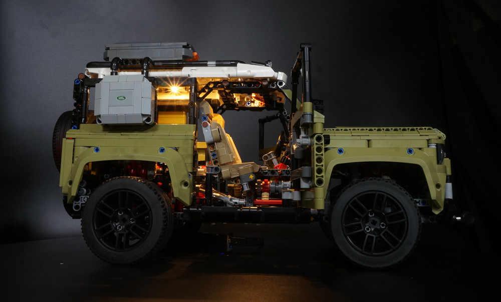 Led אור ערכת תואם Legoed 42110 טכני נחת רובר DIY Defender בניין מכונית צעצוע (לא כולל את בלוקים סט)