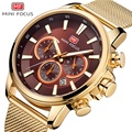 MINIFOCUS наручные часы Мужские лучший бренд роскошные известные мужские часы кварцевые часы наручные часы кварцевые часы Relogio Masculino MF0142G. 03