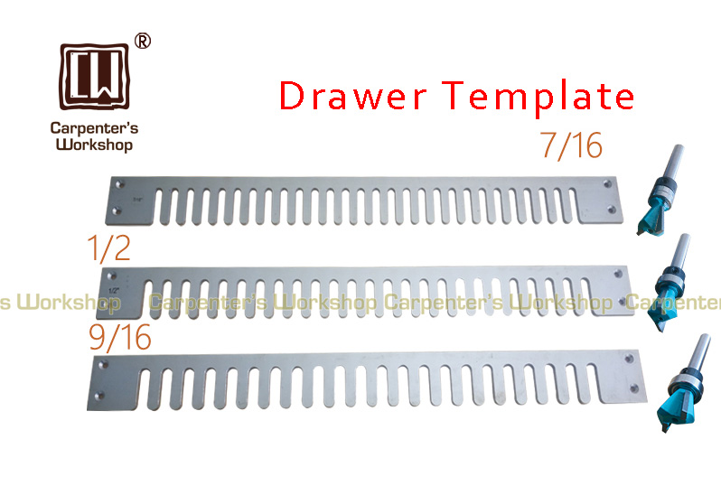 12inch 24inch Length 1 4inch Shank Half straight template milling template for woodworking drawer DIY tools