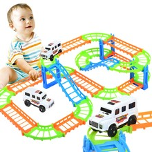 Children put together small road cars with small fire car toys  train  model train  car for kids  cars for kids