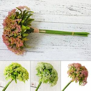 1 Pcs Plastic DIY Pearl Fruit Artificial Flowers Bouquet Simulation Plant Decoration Home Table Wedding Accessories Fake Decor