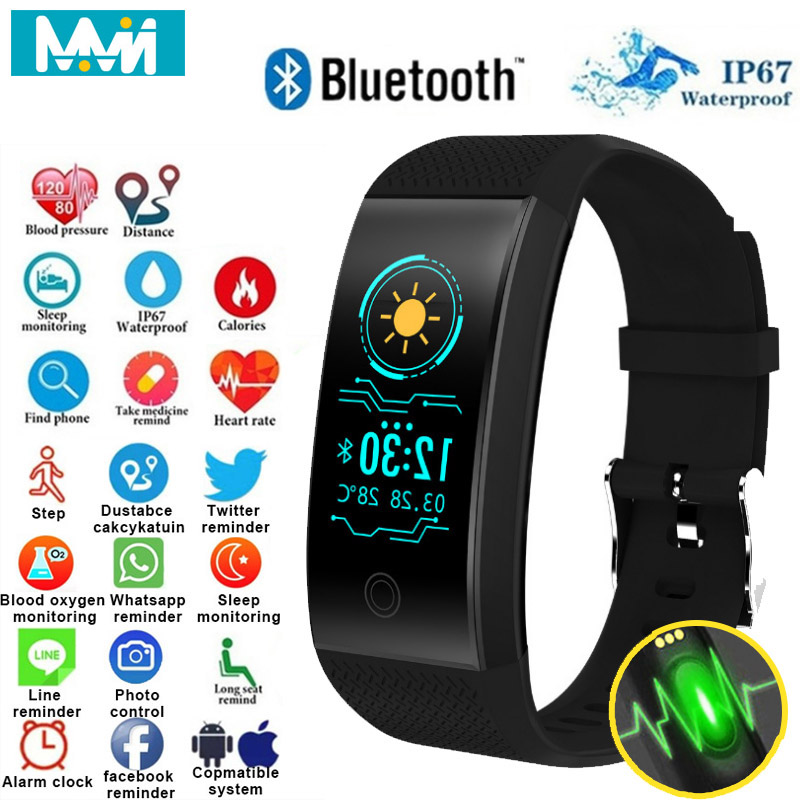 MMN Original Qw18 Smart Wristbands Fitness Bracelet Band Gps strap Replacement Band Waterproof Watch Heart Rate Tracker 24H Ship image