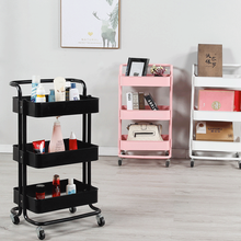 Storage Kitchen Living Room Portable Bathroom Wheel Home Support Accessories 3 Layer Cart